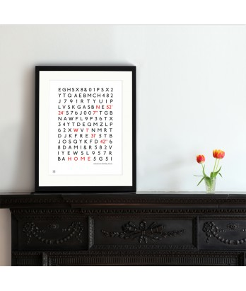 Coordinates Print - Personalised